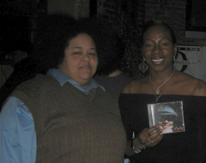 Nedra Johnson and Winner of the TBS triva Rashida Lee