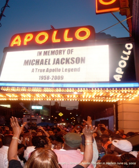 Celebrating at the Apollo Theater in Harlem, NY the life of a World-Wide Music Icon, Pop Star- Michael Jackson