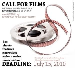 2010 CALL FOR FILMS - Queer Black Cinema International Film Festival (NYC)